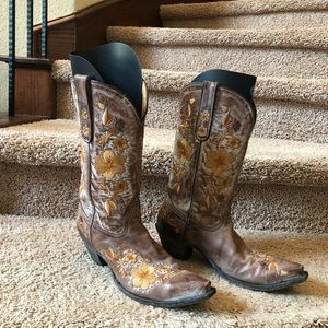 Old Gringo Yippee Ki Yay Floral Embroidered Boots